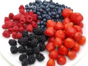 Erdbeeren, Himbeeren, Brombeeren und Heidelbeeren sind besonders reich an Antioxidantien.