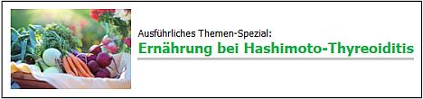 Banner Themen-Spezial Ernährung bei Hashimoto-Thyreoiditis