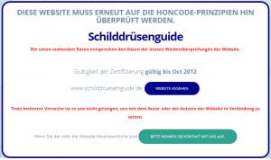 Screenshot Webseite Health On the Net Foundation