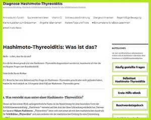 Informationsangebot Hashimoto-Thyreoiditis